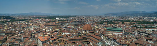 Panoramic view city of Florence Stock Photos