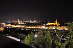 Panoramic view of the city of Florence, Italy stock photo