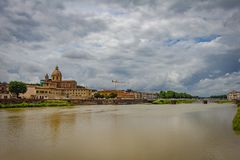 Panoramic view of the city of Florence. royalty free stock image