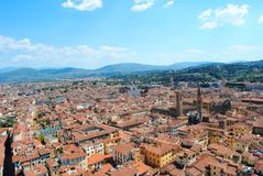 A panoramic view of the city of Florence stock images