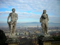 Panoramic view on the city of Florence on a sunny day Stock Photo