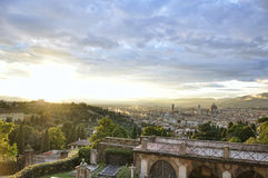 Panoramic view of the city of Florence at sunset Stock Photo