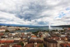 Panoramic view of city of Geneva Royalty Free Stock Photos