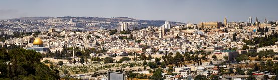 Panoramic View of City of Jerusalem, Israel Royalty Free Stock Images