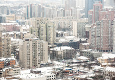 Panoramic view of the city of Kiev. Stock Images