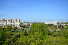 Panoramic view of the city of Komsomolsk-on-Amur, Russia Royalty Free Stock Photo