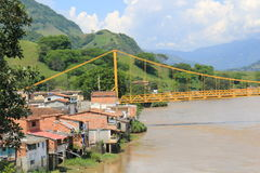 Panoramic view of the city. La Pintada, Antioquia, Colombia. Royalty Free Stock Images