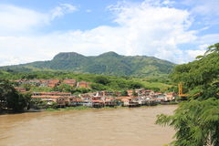 Panoramic view of the city. La Pintada, Antioquia, Colombia. Stock Image