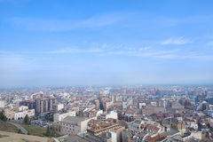 Panoramic view of a city. Stock Photos