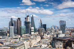 Panoramic view of the City of London on a sunny day Stock Image