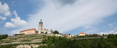 Panoramic view of the city of Mělník, Czech Republic Stock Images