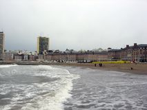 Panoramic view of the city of Mar del Plata Bristol Beach Casino Buildings Buenos Aires Argentina royalty free stock photo
