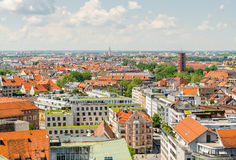 Panoramic view of the city Munich in Bavaria, Germany.  Royalty Free Stock Photo