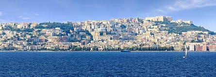 Panoramic view of city, Naples - Italy Stock Photos