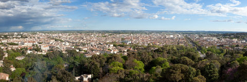 Panoramic view of the city of nimes in France Royalty Free Stock Photos