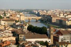 Panoramic view of the city. Ponte Vecchio. stock photo