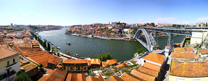 Panoramic view of City of Porto, Portugal Stock Images