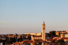 Panoramic View on the City of Pula royalty free stock photo