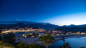 Panoramic view of the city of Ribadesella Royalty Free Stock Photography