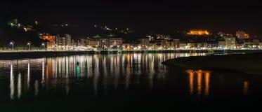 Panoramic view of the city of Ribadesella Royalty Free Stock Photos