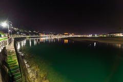 Panoramic view of the city of Ribadesella Stock Photos