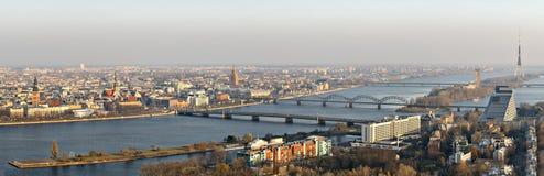 Panoramic view on city of Riga, Latvia Stock Photography