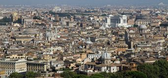 Panoramic view of the city of Rome from above the dome of the Ch Stock Image