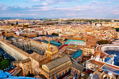 Panoramic view of city of Rome and the Vatican museums Royalty Free Stock Image
