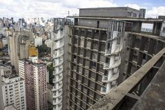 Panoramic view of the city of Sao Paulo royalty free stock photos