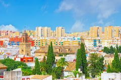 Panoramic view of the city of Seville from the observation platf. Orm Metropol Parasol, locally also known as Las Setas. Spain Stock Photos