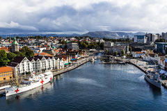 A Panoramic view of the city of Stavanger in Norway. Stock Photo