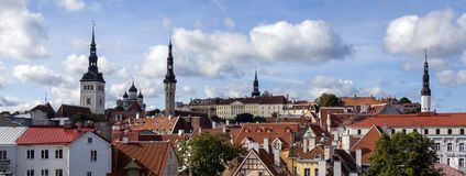 Panoramic view of the city of Tallinn in Estonia Royalty Free Stock Image