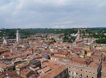 Panoramic view of the city Verona in Italy Royalty Free Stock Photo