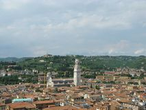 Panoramic view of the city Verona in Italy Royalty Free Stock Images