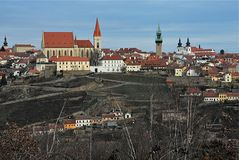 Panoramic view, city Znojmo, Czech republic, Europe stock images