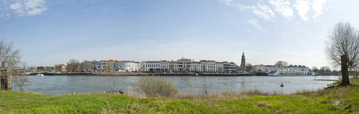 Panoramic view of the city Zutphen, the Netherlands Royalty Free Stock Photo