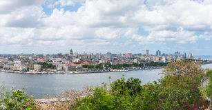 Panoramic view of the cityscape in Havana, Cuba Royalty Free Stock Photography