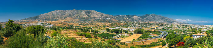 Panoramic View Of Cityscape Of Mijas in Malaga Royalty Free Stock Photography