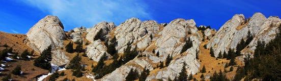 Panoramic view of Ciucas mountains, Romania Royalty Free Stock Image