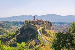 Panoramic view of Civita di Bagnoregio. Lazio. Italy. Royalty Free Stock Image