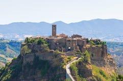 Panoramic view of Civita di Bagnoregio. Lazio. Italy. Stock Image