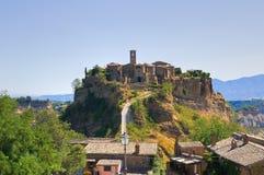 Panoramic view of Civita di Bagnoregio. Lazio. Italy. Royalty Free Stock Images