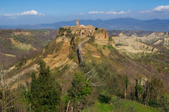 Panoramic view of Civita di Bagnoregio Stock Photos