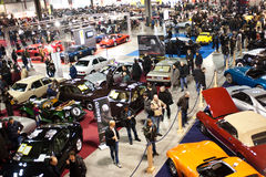 Panoramic view at Classic Car Show Royalty Free Stock Image