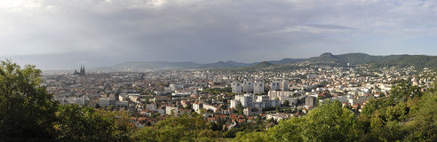 Panoramic View of Clermont-Ferrand City Stock Photo