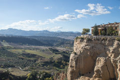Panoramic view of cliff of Ronda Royalty Free Stock Image