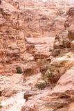 Mountain path to the Monastery, ancient city of Petra, Jordan Stock Photo