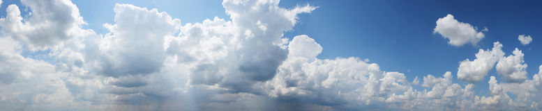 Panoramic view Cloudy sky, texture Stock Photos