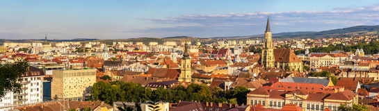 Panoramic view of Cluj-Napoca Stock Photos