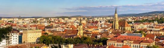 Panoramic view of Cluj-Napoca. In Romania Stock Photos
